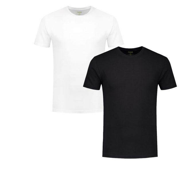 T-shirts van bamboe in het wit en zwart. Bamboo Underwear by Solidair