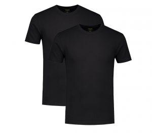 Zwarte T-shirts per 2 van Bamboo Underwear van Solidair