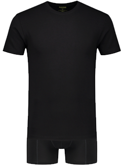 Set van boxershort en t-shirt in het zwart van Bamboo Underwear by Solidair